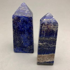 Shop Lapis Lazuli Points & Wands! High Quality Natural Lapis Lazuli Obelisk | Natural genuine stones & crystals in various shapes & sizes. Buy raw cut, tumbled, or polished gemstones for making jewelry or crystal healing energy vibration raising reiki stones. #crystals #gemstones #crystalhealing #crystalsandgemstones #energyhealing #affiliate #ad