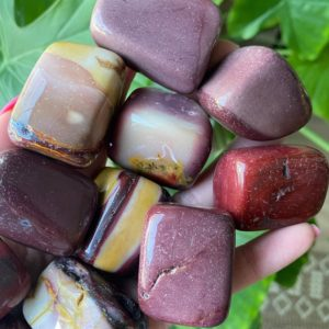 Shop Tumbled Mookaite Jasper Crystals & Pocket Stones! Large Tumbled Mookaite, Tumbled Mookaite, Mookaite Pebble | Natural genuine stones & crystals in various shapes & sizes. Buy raw cut, tumbled, or polished gemstones for making jewelry or crystal healing energy vibration raising reiki stones. #crystals #gemstones #crystalhealing #crystalsandgemstones #energyhealing #affiliate #ad