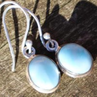 Larimar Healing Stone Earrings 925 Silver With Positive Healing Energy! | Natural genuine Gemstone jewelry. Buy crystal jewelry, handmade handcrafted artisan jewelry for women.  Unique handmade gift ideas. #jewelry #beadedjewelry #beadedjewelry #gift #shopping #handmadejewelry #fashion #style #product #jewelry #affiliate #ad