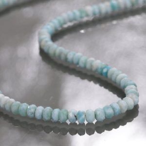 Larimar Necklace, Genuine Larimar Necklace, AAA+ Grade Larimar Beaded Necklace, Jewelry Ideas, Aqua Beach Jewelry, Larimar Jewelry, Gift | Natural genuine Larimar necklaces. Buy crystal jewelry, handmade handcrafted artisan jewelry for women.  Unique handmade gift ideas. #jewelry #beadednecklaces #beadedjewelry #gift #shopping #handmadejewelry #fashion #style #product #necklaces #affiliate #ad