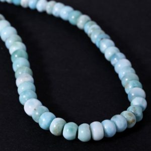 Shop Larimar Necklaces! Larimar Smooth Plain Rondelle From Dominican Republic Beads Necklace Soft Soothing Blue Necklace For Great Relationship Bond… | Natural genuine Larimar necklaces. Buy crystal jewelry, handmade handcrafted artisan jewelry for women.  Unique handmade gift ideas. #jewelry #beadednecklaces #beadedjewelry #gift #shopping #handmadejewelry #fashion #style #product #necklaces #affiliate #ad