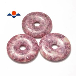 Lepidolite Donut Circle Pendant Size 50mm Sold per Piece | Natural genuine Array jewelry. Buy crystal jewelry, handmade handcrafted artisan jewelry for women.  Unique handmade gift ideas. #jewelry #beadedjewelry #beadedjewelry #gift #shopping #handmadejewelry #fashion #style #product #jewelry #affiliate #ad