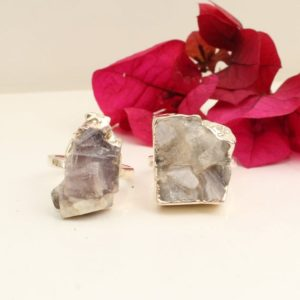 Shop Lepidolite Rings! Lepidolite Ring Silver, Raw Lepidolite Ring, Adjustable Ring | Natural genuine Lepidolite rings, simple unique handcrafted gemstone rings. #rings #jewelry #shopping #gift #handmade #fashion #style #affiliate #ad