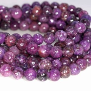 Shop Lepidolite Round Beads! 6mm Mauve Lepidolite Gemstone Grade AA Purple Round 6mm Loose Beads 16 inch Full Strand (90146595-161) | Natural genuine round Lepidolite beads for beading and jewelry making.  #jewelry #beads #beadedjewelry #diyjewelry #jewelrymaking #beadstore #beading #affiliate #ad