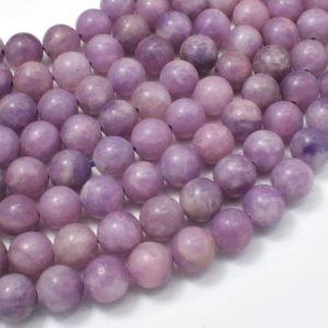 Lepidolite Beads, 8mm (8.6mm) Round Beads, 15.5 Inch, Full Strand, Approx 46 Beads, Hole 1mm (297054001) | Natural genuine beads Lepidolite beads for beading and jewelry making.  #jewelry #beads #beadedjewelry #diyjewelry #jewelrymaking #beadstore #beading #affiliate #ad