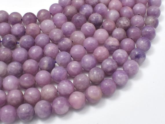 Lepidolite Beads, 8mm (8.6mm) Round Beads, 15.5 Inch, Full Strand, Approx 46 Beads, Hole 1mm (297054001)