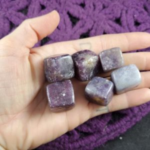Shop Tumbled Lepidolite Crystals & Pocket Stones! SALE 6 Lepidolite Tumbled Cubes Crystal Stones Crystals Purple Sparkly Sacred Geometry Shapes Gridding Lot Parcel Bulk | Natural genuine stones & crystals in various shapes & sizes. Buy raw cut, tumbled, or polished gemstones for making jewelry or crystal healing energy vibration raising reiki stones. #crystals #gemstones #crystalhealing #crystalsandgemstones #energyhealing #affiliate #ad