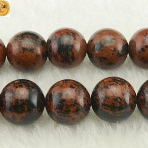 """Mahogany Obsidian Smooth Round Beads, 6mm 8mm 10mm 12mm 14mm For Choice, 15"""" Full Strand   Natural genuine round Gemstone beads for beading and jewelry making.  #jewelry #beads #beadedjewelry #diyjewelry #jewelrymaking #beadstore #beading #affiliate #ad"""