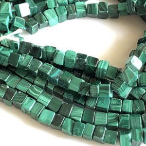 Shop Malachite Bead Shapes! Natural Malachite Smooth Box Beads, 6mm 5mm Natural Malachite Loose Box Beads, 18 Inch Strand, Gds1748   Natural genuine other-shape Malachite beads for beading and jewelry making.  #jewelry #beads #beadedjewelry #diyjewelry #jewelrymaking #beadstore #beading #affiliate #ad