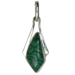 Shop Malachite Pendants! Malachite And Sterling Silver Pendant Pmalf3178 | Natural genuine Malachite pendants. Buy crystal jewelry, handmade handcrafted artisan jewelry for women.  Unique handmade gift ideas. #jewelry #beadedpendants #beadedjewelry #gift #shopping #handmadejewelry #fashion #style #product #pendants #affiliate #ad