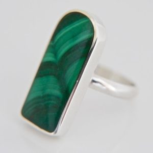 Shop Malachite Rings! Malachite Ring – Handmade In Silver – Woman's Ring | Natural genuine Malachite rings, simple unique handcrafted gemstone rings. #rings #jewelry #shopping #gift #handmade #fashion #style #affiliate #ad