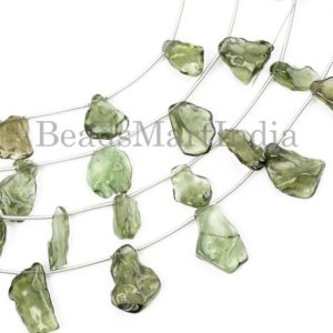 Shop Moldavite Beads! Top Quality Moldavite Nugget Shape Gemstone Natural Beads, Natural Moldavite Beads, Moldavite Nugget Shape Beads, Moldavite Beads | Natural genuine chip Moldavite beads for beading and jewelry making.  #jewelry #beads #beadedjewelry #diyjewelry #jewelrymaking #beadstore #beading #affiliate #ad