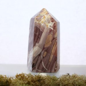 Shop Mookaite Jasper Points & Wands! Monet Jasper Tower | Brazilian Mookaite Point | Natural genuine stones & crystals in various shapes & sizes. Buy raw cut, tumbled, or polished gemstones for making jewelry or crystal healing energy vibration raising reiki stones. #crystals #gemstones #crystalhealing #crystalsandgemstones #energyhealing #affiliate #ad