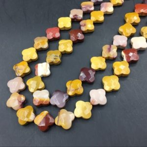 Shop Mookaite Jasper Faceted Beads! Faceted Mookaite Jasper Clover Beads Gemstone Beads Flower Beads Floral Beads Mookaite Jasper Beads Jewelry Supplies 13mm 30pieces/strand | Natural genuine faceted Mookaite Jasper beads for beading and jewelry making.  #jewelry #beads #beadedjewelry #diyjewelry #jewelrymaking #beadstore #beading #affiliate #ad
