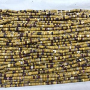 Shop Mookaite Jasper Bead Shapes! Natural Mookaite 3mm – 4mm Heishi Genuine Yellow Red Loose Gemstone Beads 15inch Jewelry Supply Bracelet Necklace Material Support Wholesale   Natural genuine other-shape Mookaite Jasper beads for beading and jewelry making.  #jewelry #beads #beadedjewelry #diyjewelry #jewelrymaking #beadstore #beading #affiliate #ad
