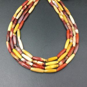 Tapered Tube Beads Mookaite Jasper Beads Olive Marquise Barrel Beads 20x6mm Long Beads Vertical Drilled Semi Precious Beads 19-20beads/lot | Natural genuine beads Gemstone beads for beading and jewelry making.  #jewelry #beads #beadedjewelry #diyjewelry #jewelrymaking #beadstore #beading #affiliate #ad