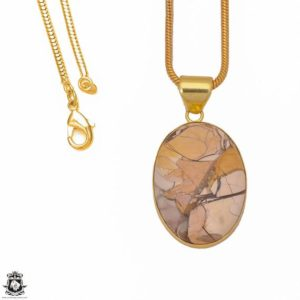 Shop Mookaite Jasper Pendants! Brecciated Mookaite 24K Gold Plated Pendant 3MM Italian Snake Chain GPH296 | Natural genuine Mookaite Jasper pendants. Buy crystal jewelry, handmade handcrafted artisan jewelry for women.  Unique handmade gift ideas. #jewelry #beadedpendants #beadedjewelry #gift #shopping #handmadejewelry #fashion #style #product #pendants #affiliate #ad