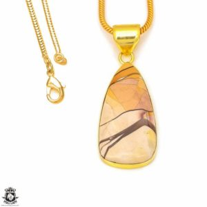 Shop Mookaite Jasper Pendants! Brecciated Mookaite 24K Gold Plated Pendant 3MM Italian Snake Chain GPH301 | Natural genuine Mookaite Jasper pendants. Buy crystal jewelry, handmade handcrafted artisan jewelry for women.  Unique handmade gift ideas. #jewelry #beadedpendants #beadedjewelry #gift #shopping #handmadejewelry #fashion #style #product #pendants #affiliate #ad