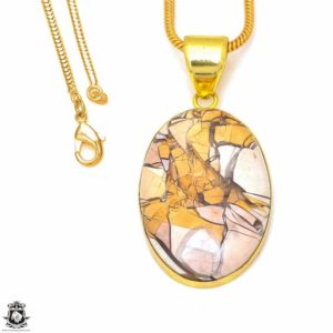 Shop Mookaite Jasper Pendants! Brecciated Mookaite 24K Gold Plated Pendant 3MM Italian Snake Chain GPH302 | Natural genuine Mookaite Jasper pendants. Buy crystal jewelry, handmade handcrafted artisan jewelry for women.  Unique handmade gift ideas. #jewelry #beadedpendants #beadedjewelry #gift #shopping #handmadejewelry #fashion #style #product #pendants #affiliate #ad