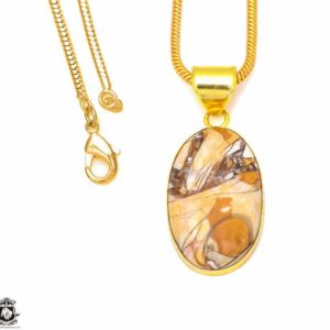 Shop Mookaite Jasper Pendants! Brecciated Mookaite 24K Gold Plated Pendant 3MM Italian Snake Chain GPH304 | Natural genuine Mookaite Jasper pendants. Buy crystal jewelry, handmade handcrafted artisan jewelry for women.  Unique handmade gift ideas. #jewelry #beadedpendants #beadedjewelry #gift #shopping #handmadejewelry #fashion #style #product #pendants #affiliate #ad