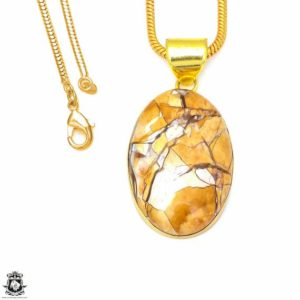 Shop Mookaite Jasper Pendants! Brecciated Mookaite 24K Gold Plated Pendant 3MM Italian Snake Chain GPH300 | Natural genuine Mookaite Jasper pendants. Buy crystal jewelry, handmade handcrafted artisan jewelry for women.  Unique handmade gift ideas. #jewelry #beadedpendants #beadedjewelry #gift #shopping #handmadejewelry #fashion #style #product #pendants #affiliate #ad