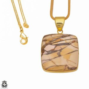 Shop Mookaite Jasper Pendants! Brecciated Mookaite 24K Gold Plated Pendant 3MM Italian Snake Chain GPH303 | Natural genuine Mookaite Jasper pendants. Buy crystal jewelry, handmade handcrafted artisan jewelry for women.  Unique handmade gift ideas. #jewelry #beadedpendants #beadedjewelry #gift #shopping #handmadejewelry #fashion #style #product #pendants #affiliate #ad