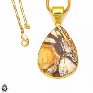 Shop Mookaite Jasper Pendants! Brecciated Mookaite 24K Gold Plated Pendant 3MM Italian Snake Chain GPH298 | Natural genuine Mookaite Jasper pendants. Buy crystal jewelry, handmade handcrafted artisan jewelry for women.  Unique handmade gift ideas. #jewelry #beadedpendants #beadedjewelry #gift #shopping #handmadejewelry #fashion #style #product #pendants #affiliate #ad