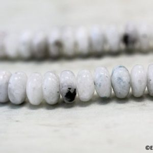 Shop Moonstone Rondelle Beads! M / Blue Moonstone 8×4 Rondelle Loose Beads. 15.5 Inches Long | Natural genuine rondelle Moonstone beads for beading and jewelry making.  #jewelry #beads #beadedjewelry #diyjewelry #jewelrymaking #beadstore #beading #affiliate #ad