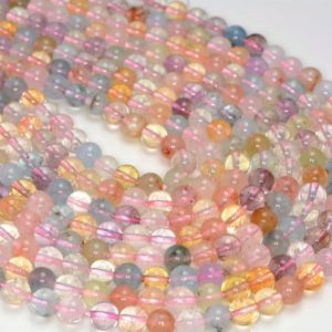 Shop Morganite Round Beads! 6mm Genuine Morganite Gemstone Grade Aaa Multicolor Round Loose Beads 15.5 Inch Full Strand (80005650-472) | Natural genuine round Morganite beads for beading and jewelry making.  #jewelry #beads #beadedjewelry #diyjewelry #jewelrymaking #beadstore #beading #affiliate #ad