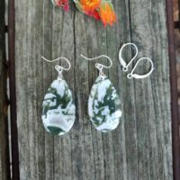Silver Moss Agate Earrings. Unique Green Earrings | Natural genuine Gemstone jewelry. Buy crystal jewelry, handmade handcrafted artisan jewelry for women.  Unique handmade gift ideas. #jewelry #beadedjewelry #beadedjewelry #gift #shopping #handmadejewelry #fashion #style #product #jewelry #affiliate #ad