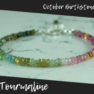 Shop Watermelon Tourmaline Bracelets! Multicolored Tourmaline Bracelet Silver, Dainty Tourmaline Bracelet, Tourmaline Bracelet Watermelon, Tourmaline Bracelet For Protection | Natural genuine Watermelon Tourmaline bracelets. Buy crystal jewelry, handmade handcrafted artisan jewelry for women.  Unique handmade gift ideas. #jewelry #beadedbracelets #beadedjewelry #gift #shopping #handmadejewelry #fashion #style #product #bracelets #affiliate #ad