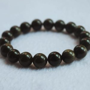 Natural Golden Obsidian Beads Bracelet,Golden Obsidian Bracelet, Jewelry Bracelet,Bead Wholesale | Natural genuine Gemstone jewelry. Buy crystal jewelry, handmade handcrafted artisan jewelry for women.  Unique handmade gift ideas. #jewelry #beadedjewelry #beadedjewelry #gift #shopping #handmadejewelry #fashion #style #product #jewelry #affiliate #ad