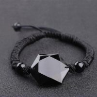 Black Obsidian Hexagram Bracelet-natural Stone Healing Negative Energy Protection Bracelet-spiritual Meditation Grounding Yoga Bracelet Gift | Natural genuine Gemstone jewelry. Buy crystal jewelry, handmade handcrafted artisan jewelry for women.  Unique handmade gift ideas. #jewelry #beadedjewelry #beadedjewelry #gift #shopping #handmadejewelry #fashion #style #product #jewelry #affiliate #ad