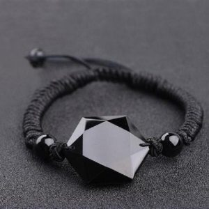 Black Obsidian Hexagram Bracelet-natural Stone Healing Negative Energy Protection Bracelet-spiritual Meditation Grounding Yoga Bracelet Gift | Natural genuine Obsidian bracelets. Buy crystal jewelry, handmade handcrafted artisan jewelry for women.  Unique handmade gift ideas. #jewelry #beadedbracelets #beadedjewelry #gift #shopping #handmadejewelry #fashion #style #product #bracelets #affiliate #ad