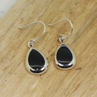 Gorgeous…teardrop Shape Black Obsidian Stone Earrings Set On 925 Sterling Silver Quality Silver With Genuine Obsidian Stone Drop Earrings | Natural genuine Gemstone jewelry. Buy crystal jewelry, handmade handcrafted artisan jewelry for women.  Unique handmade gift ideas. #jewelry #beadedjewelry #beadedjewelry #gift #shopping #handmadejewelry #fashion #style #product #jewelry #affiliate #ad
