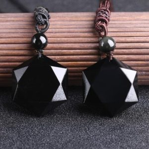 Shop Obsidian Jewelry! Black Obsidian Hexagram Crystal Pendant Necklace-Healing Natural Stone Pendant Necklace-Spiritual Meditation Mental Health Energy Necklace   Natural genuine Obsidian jewelry. Buy crystal jewelry, handmade handcrafted artisan jewelry for women.  Unique handmade gift ideas. #jewelry #beadedjewelry #beadedjewelry #gift #shopping #handmadejewelry #fashion #style #product #jewelry #affiliate #ad