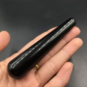 Black Obsidian Massage Wand Smooth Polished Black Crystal Wand Meditation Crystal Healing Tool Reiki MW | Natural genuine stones & crystals in various shapes & sizes. Buy raw cut, tumbled, or polished gemstones for making jewelry or crystal healing energy vibration raising reiki stones. #crystals #gemstones #crystalhealing #crystalsandgemstones #energyhealing #affiliate #ad