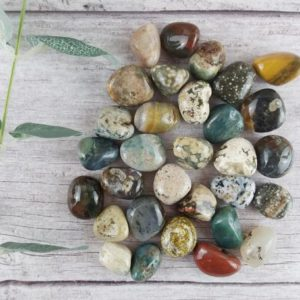Ocean Jasper Tumbled Stones, Reiki Infused Wire Wrapping Self Care Healing Crystals | Natural genuine stones & crystals in various shapes & sizes. Buy raw cut, tumbled, or polished gemstones for making jewelry or crystal healing energy vibration raising reiki stones. #crystals #gemstones #crystalhealing #crystalsandgemstones #energyhealing #affiliate #ad