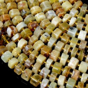 Shop Opal Bead Shapes! 8×6-8x4MM Yellow Opal Gemstone Cylinder Wheel Tube Loose Beads (S1) | Natural genuine other-shape Opal beads for beading and jewelry making.  #jewelry #beads #beadedjewelry #diyjewelry #jewelrymaking #beadstore #beading #affiliate #ad