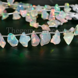 Shop Opal Bead Shapes! Amazing Ethiopian Fire Opal Beads Strand, Natural Fire Opal Fancy Beads , Ethiopian Opal Beads , Smooth Opal Uneven Shape Beads, Opal Beads | Natural genuine other-shape Opal beads for beading and jewelry making.  #jewelry #beads #beadedjewelry #diyjewelry #jewelrymaking #beadstore #beading #affiliate #ad