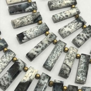 Shop Opal Bead Shapes! Dendrite Opal Plain stick 24 to 28 mm Gemstone Beads Strand Sale / Semi Precious Beads / Opal Beads Strand / Opal Gemstone /Wholesale Beads | Natural genuine other-shape Opal beads for beading and jewelry making.  #jewelry #beads #beadedjewelry #diyjewelry #jewelrymaking #beadstore #beading #affiliate #ad