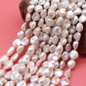Shop Pearl Bead Shapes! 9-11mmWhite keshi pearl beads,Natural Freshwater pearl Beads,Baroque pearl beads,Loose pearls.Pearl for jewelry making-33Pcs-15 inches-NP122 | Natural genuine other-shape Pearl beads for beading and jewelry making.  #jewelry #beads #beadedjewelry #diyjewelry #jewelrymaking #beadstore #beading #affiliate #ad