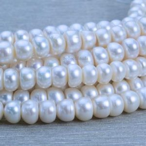 Shop Pearl Rondelle Beads! white pearl beads – freshwater pearls – freshwater pearls beads – pearl beads for crafts – wholesale pearl beads – rondelle pearls -15 inch | Natural genuine rondelle Pearl beads for beading and jewelry making.  #jewelry #beads #beadedjewelry #diyjewelry #jewelrymaking #beadstore #beading #affiliate #ad