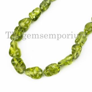 Shop Peridot Chip & Nugget Beads! Natural Peridot Smooth Nugget Necklace, Top Quality Peridot Nuggets Necklace, Nugget Necklace, Gift For Her, Necklace, Gemstone Necklace | Natural genuine chip Peridot beads for beading and jewelry making.  #jewelry #beads #beadedjewelry #diyjewelry #jewelrymaking #beadstore #beading #affiliate #ad