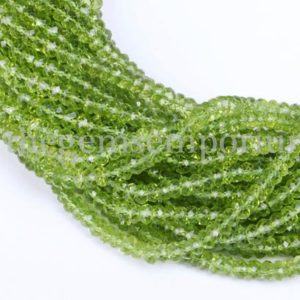 Shop Peridot Faceted Beads! Peridot Faceted Machine Cut Rondelle Shape Gemstone Beads, Peridot Faceted Beads, Peridot Machine Cut Beads, Peridot Rondelle Gemstone Beads | Natural genuine faceted Peridot beads for beading and jewelry making.  #jewelry #beads #beadedjewelry #diyjewelry #jewelrymaking #beadstore #beading #affiliate #ad