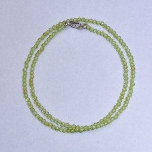 Shop Peridot Necklaces! Natural Green Peridot Gemstone Beads Necklace, 3mm Faceted Round Beads Necklace, AAA++ Peridot Semi Precious Jewelry, Women's, Gift Necklace | Natural genuine Peridot necklaces. Buy crystal jewelry, handmade handcrafted artisan jewelry for women.  Unique handmade gift ideas. #jewelry #beadednecklaces #beadedjewelry #gift #shopping #handmadejewelry #fashion #style #product #necklaces #affiliate #ad