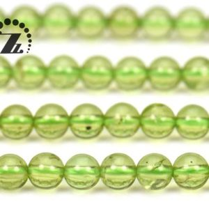 """Shop Peridot Round Beads! Peridot Smooth Round Bedas,Green Peridot,Natural,Genuine,Gemtosne,DIY,Grade A,4mm,15"""" full strand 