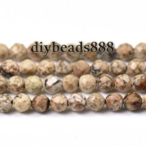 Shop Picture Jasper Faceted Beads! Picture Jasper,15 inch full strand Picture Jasper faceted round beads 2mm 3mm for Choice | Natural genuine faceted Picture Jasper beads for beading and jewelry making.  #jewelry #beads #beadedjewelry #diyjewelry #jewelrymaking #beadstore #beading #affiliate #ad