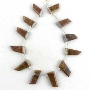 Shop Picture Jasper Faceted Beads! Best Quality 1 Strand Natural Picture Jasper Fancy Shape 6×16-7.5x20mm Bead Genuine Jasper Faceted Stone Picture Jasper Gemstone Jasper, sale | Natural genuine faceted Picture Jasper beads for beading and jewelry making.  #jewelry #beads #beadedjewelry #diyjewelry #jewelrymaking #beadstore #beading #affiliate #ad