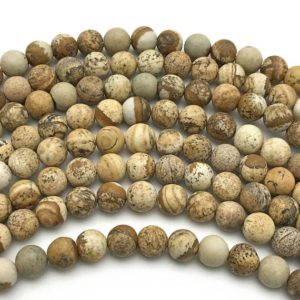 Shop Picture Jasper Round Beads! 8mm Matte Picture Jasper Beads, Round Gemstone Beads, Wholesale Beads | Natural genuine round Picture Jasper beads for beading and jewelry making.  #jewelry #beads #beadedjewelry #diyjewelry #jewelrymaking #beadstore #beading #affiliate #ad